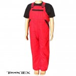 Nohavice na traky detské červené